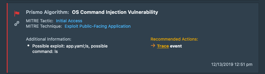 Detection of Vulnerabilities in Web Applications – OS Command Injection